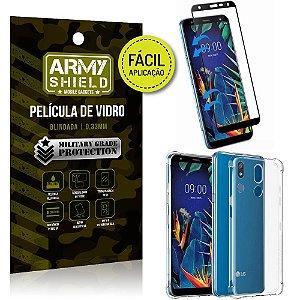 Kit Película 3D Fácil Aplicação LG K12 Plus Película 3D + Capa Anti Impacto - Armyshield