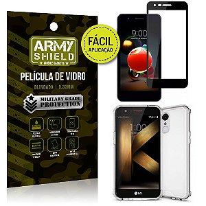 Kit Película 3D Fácil Aplicação LG K9 Película 3D + Capa Anti Impacto - Armyshield