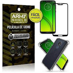 Kit Película 3D Fácil Aplicação Motorola Moto G7 Power Película 3D + Capa Anti Impacto - Armyshield