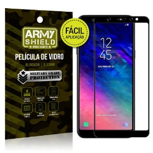 Película 3D Fácil Aplicação Samsung Galaxy A6 Plus Película 3D - Armyshield