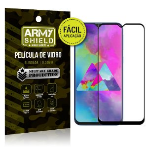 Película 3D Fácil Aplicação Samsung Galaxy M20 Película 3D - Armyshield