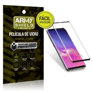 Película 3D Fácil Aplicação Samsung Galaxy S10 Película 3D - Armyshield