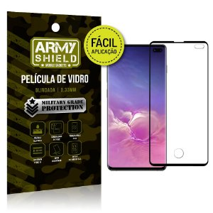 Película 3D Fácil Aplicação Galaxy S10 Plus Película 3D - Armyshield