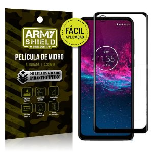 Película 3D Fácil Aplicação Motorola Moto One Action - Armyshield