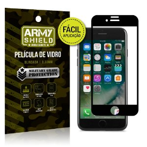 Película 3D Fácil Aplicação Apple iPhone 7 Película 3D - Armyshield