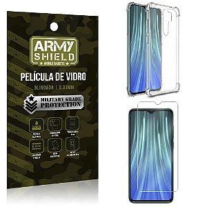 Kit Anti Impacto Redmi Note 8 Pro Capinha Anti Impacto + Película de Vidro - Armyshield