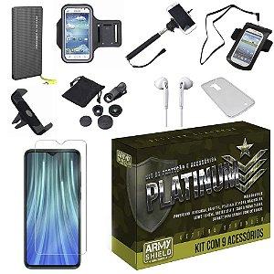 Kit Platinum Tipo C Redmi Note 8 Pro com 9 Acessórios - Armyshield