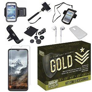 Kit Gold Moto G8 Play com 8 Acessórios - Armyshield