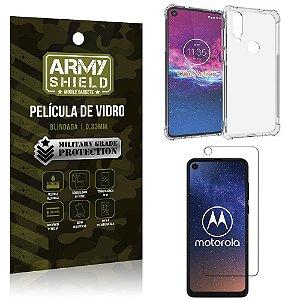 Kit Anti Impacto Moto One Action Capinha Anti Impacto + Película de Vidro - Armyshield