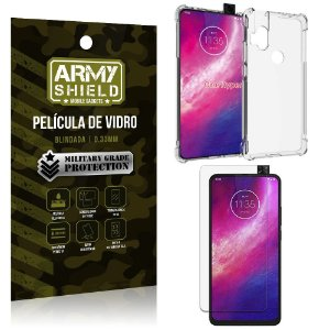 Kit Anti Impacto Moto One Hyper Capinha Anti Impacto + Película de Vidro - Armyshield