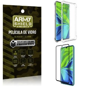Kit Anti Impacto Mi Note 10 Capinha Anti Impacto + Película de Vidro - Armyshield