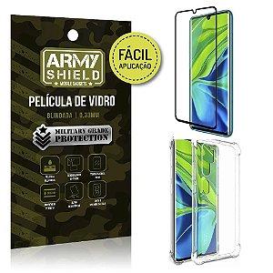 Kit Película 3D Fácil Aplicação Mi Note 10 Película 3D + Capa Anti Impacto - Armyshield