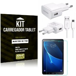 Kit Carregador Samsung Galaxy Tab A 10.1' P585 + Película de Vidro - Armyshield