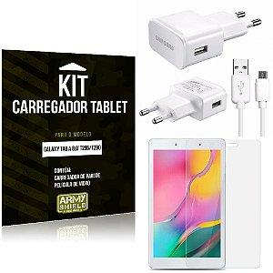 Kit Carregador Samsung Galaxy Tab A 8.0' T295/T290 + Película de Vidro - Armyshield
