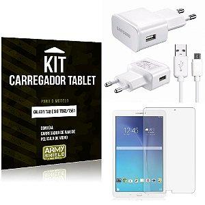 Kit Carregador Samsung Galaxy Tab E 9.6' T560/T561 + Película de Vidro - Armyshield