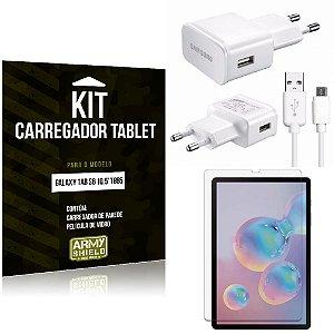 Kit Carregador Tipo C Samsung Galaxy Tab S6 10.5' T865 + Película de Vidro - Armyshield