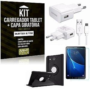 Kit Carregador Samsung Galaxy Tab A 10.1' P585 + Capa Giratória + Película de Vidro - Armyshield
