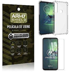 Kit Anti Impacto Moto G8 Plus Capinha Anti Impacto + Película de Vidro - Armyshield