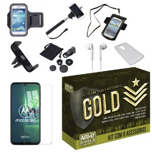 Kit Gold Moto G8 Plus com 8 Acessórios - Armyshield