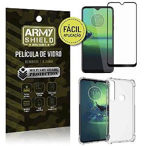 Kit Película 3D Fácil Aplicação Moto G8 Plus Película 3D + Capa Anti Impacto - Armyshield