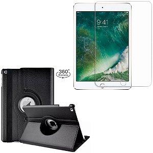 Capa Giratória + Película de Vidro Blindada iPad 2019 7a Geração 10.2 - Armyshield
