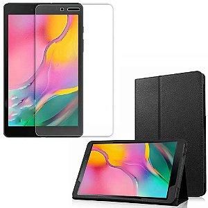 Capa Pasta + Película de Vidro Blindada Tablet Galaxy Tab A 8.0' T295/T290 - Armyshield