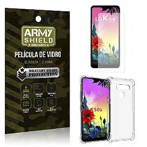 Kit Anti Impacto LG K50s Capinha Anti Impacto + Película de Vidro - Armyshield