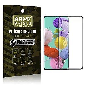 Película de Vidro 3D Cobre a Tela Toda Blindada Galaxy A71 - Armyshield
