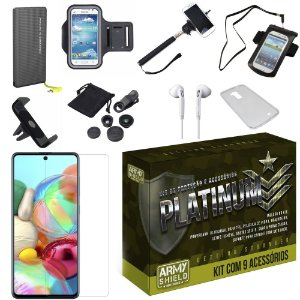Kit Platinum Tipo C Galaxy A71 com 9 Acessórios - Armyshield