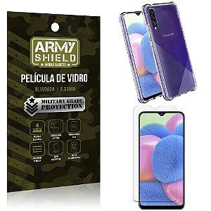 Kit Anti Impacto Galaxy A30S Capinha Anti Impacto + Película de Vidro - Armyshield