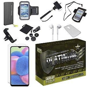 Kit Platinum Tipo C Galaxy A30S com 9 Acessórios - Armyshield