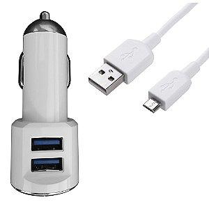 Carregador Veicular Micro USB HRebos 3.4A com 2 Saídas