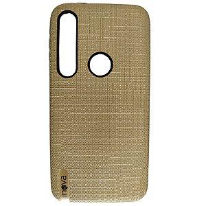 Capa Anti Impacto Inova Moto G8 Plus Dourada