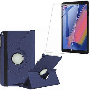Capa Giratória Galaxy Tab A 8 S-pen P200/P205 Azul Marinho + Película Vidro - Armyshield