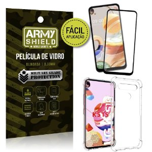 Película 3D Full Cover Fácil Aplicação LG K51s + Capa antishock - Armyshield