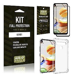 Combo Full Protection LG K61 Película de Vidro 3D + Capa Anti Impacto - Armyshield
