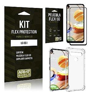 Kit Flex Protection LG K61 Capa Anti Impacto + Película Flex 5D - Armyshield