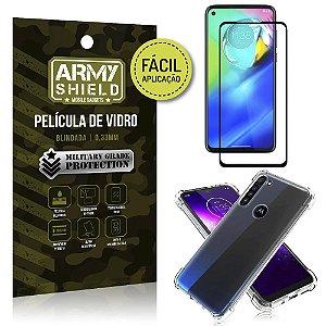 Película 3D Full Cover Fácil Aplicação Moto G8 Power + Capa antishock - Armyshield