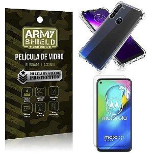 Capinha + Película de Vidro Blindada Moto G8 Power - Armyshield