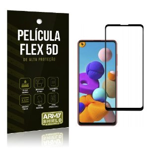 Película Flex 5D Cobre a Tela Toda Blindada Galaxy A21s - Armyshield