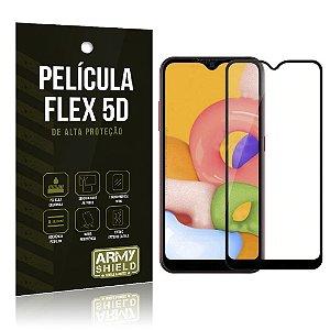Película Flex 5D Cobre a Tela Toda Blindada Galaxy A01 - Armyshield