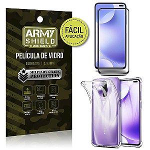 Película 3D Full Cover Fácil Aplicação Redmi K30 + Capa antishock - Armyshield