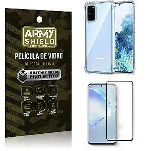 Capinha + Película de Vidro Blindada Full Cover 3D Galaxy S20 - Armyshield