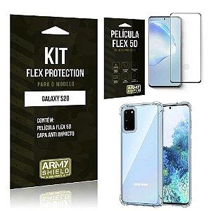 Kit Flex Protection Galaxy S20 Capa Anti Impacto + Película Flex 5D - Armyshield