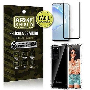 Película 3D Full Cover Fácil Aplicação Galaxy S20 Ultra+ Capa antishock - Armyshield