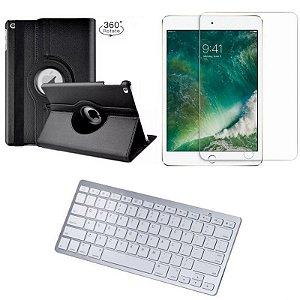 Capa Giratória iPad 2019 7a Geração 10.2 + Película + Teclado - Armyshield
