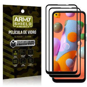 Kit 2 Películas de Vidro Blindada 3D Full Cover Galaxy A11 - Armyshield