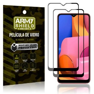 Kit 2 Películas de Vidro Blindada 3D Full Cover Galaxy A20s - Armyshield