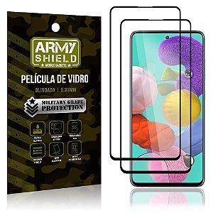 Kit 2 Películas de Vidro Blindada 3D Full Cover Galaxy A51 - Armyshield