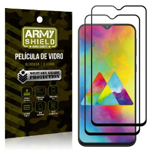 Kit 2 Películas de Vidro Blindada 3D Full Cover Galaxy M20 - Armyshield